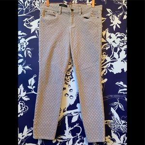 J Crew Toothpick Ankle Pants Polka Dot Size 31